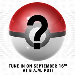 New Pokemon Announcement Coming September 16th