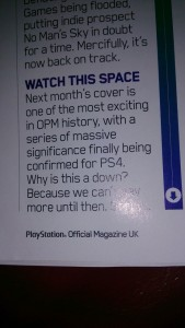 """Official Playstation Magazine is Teasing Big PS4 Reveal, """"Series of Massive Significance"""""""