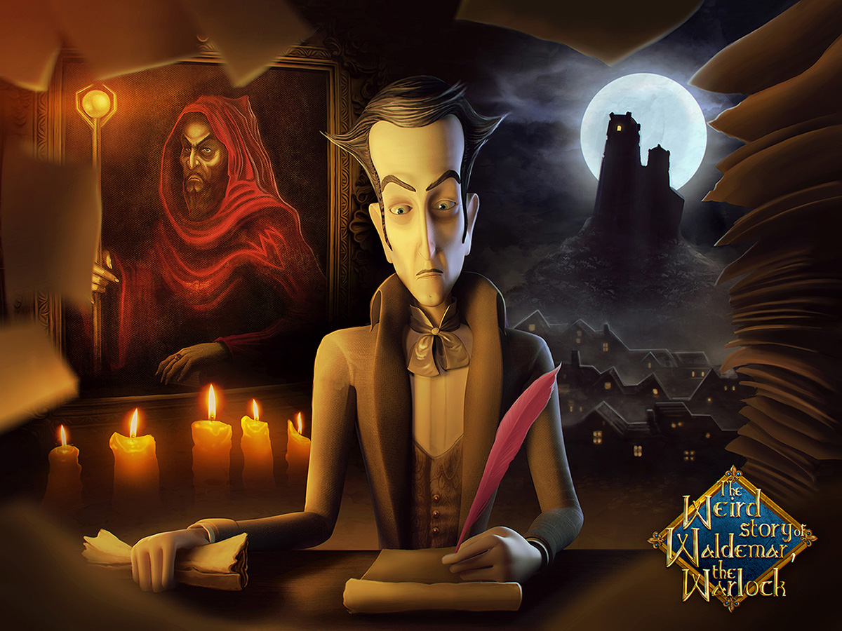 The Weird Story of Waldemar the Warlock, a Tale Rife with Horror and Humor, is Up on Kickstarter