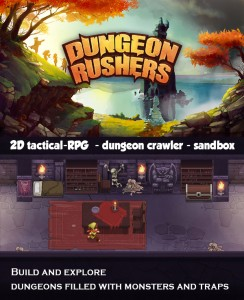 Dungeon Rushers, a Challenging Tactical RPG/Dungeon Builder, is Up on Indiegogo