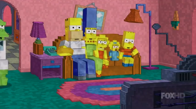 The Simpsons Get a Minecraft Makeover