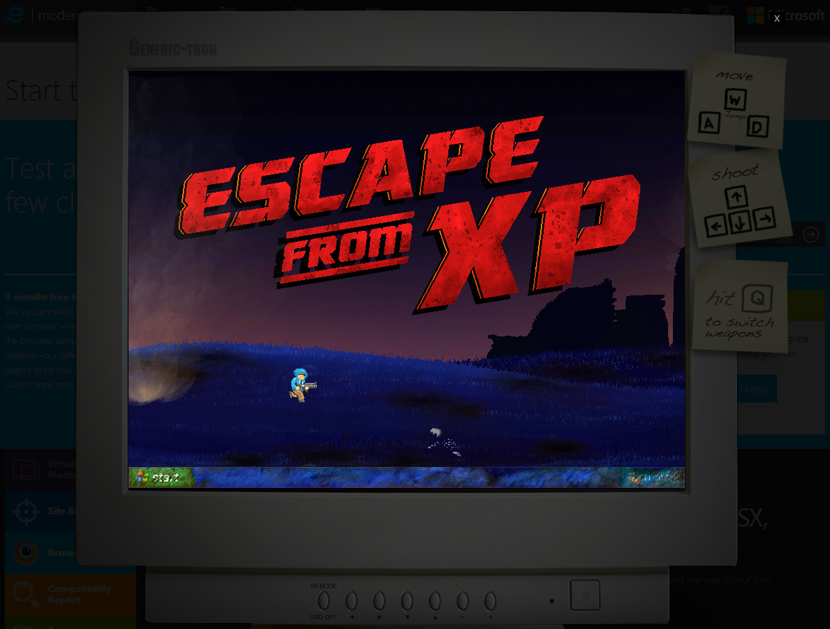 Microsoft Bids Farewell to XP With a Clever Browser Game