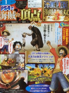 One Piece: Pirate Warriors 3 is Revealed for PS3, PS4, and Vita