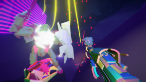 Enter the Exhilarating Neon Matrix in DESYNC, a Stylish FPS