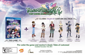 American Pre-order Bonuses and Digital Limited Edition for Tales of Hearts R Confirmed