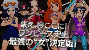 Check Out the Chibi-fied Nami, Tashigi, Robin, and Boa in One Piece: Super Grand Battle X