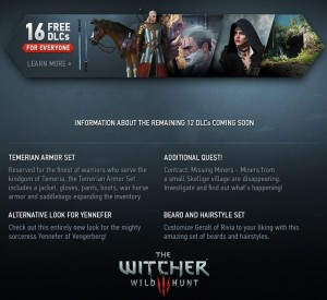 Witcher 3 Owners To Get 16 DLCs For Free