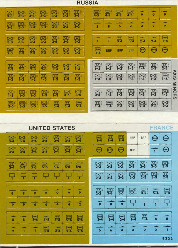 Unit counters from Rise and Decline of the Third Reich