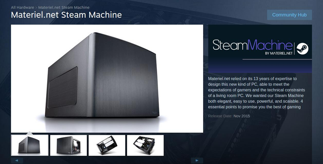 steam machine hardware specs