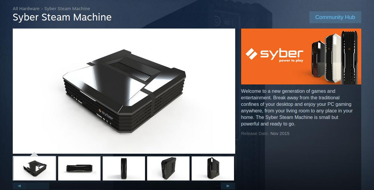 syber steam machine i