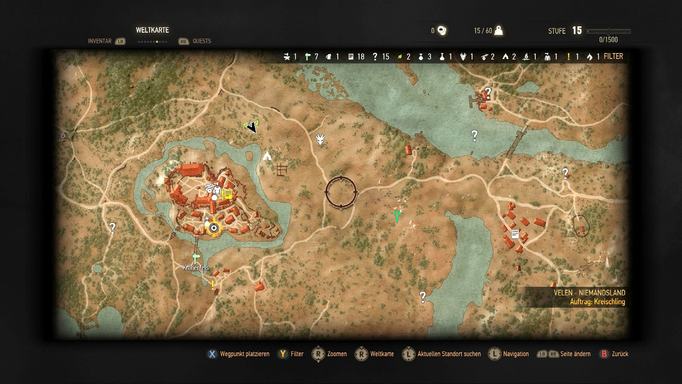 New Info for The Witcher 3 Wild Hunt a Look at Its World Map and Screensho