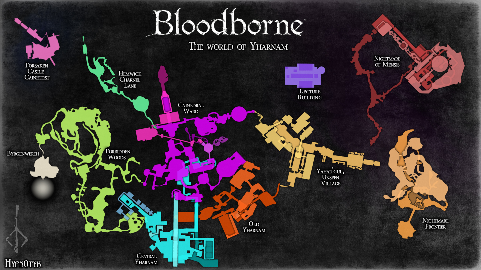 reddit user constructs hi res map of bloodbornes world niche gamer