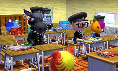 Home Designer School roomsketcher home office contemporary design in cool blue Animal Crossing Happy Home Designer 07 23 15 1