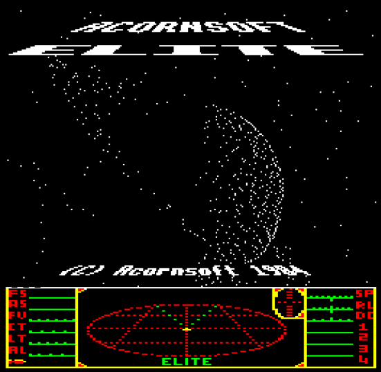 Elite for BBC Micro - a whole galaxy on one tape