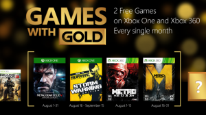 Games with Gold August 2015 Adds Metal Gear Solid: Ground Zeroes, Both Metro Games, More