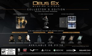Pricing for Deus Ex: Mankind Divided Collector's Edition Revealed