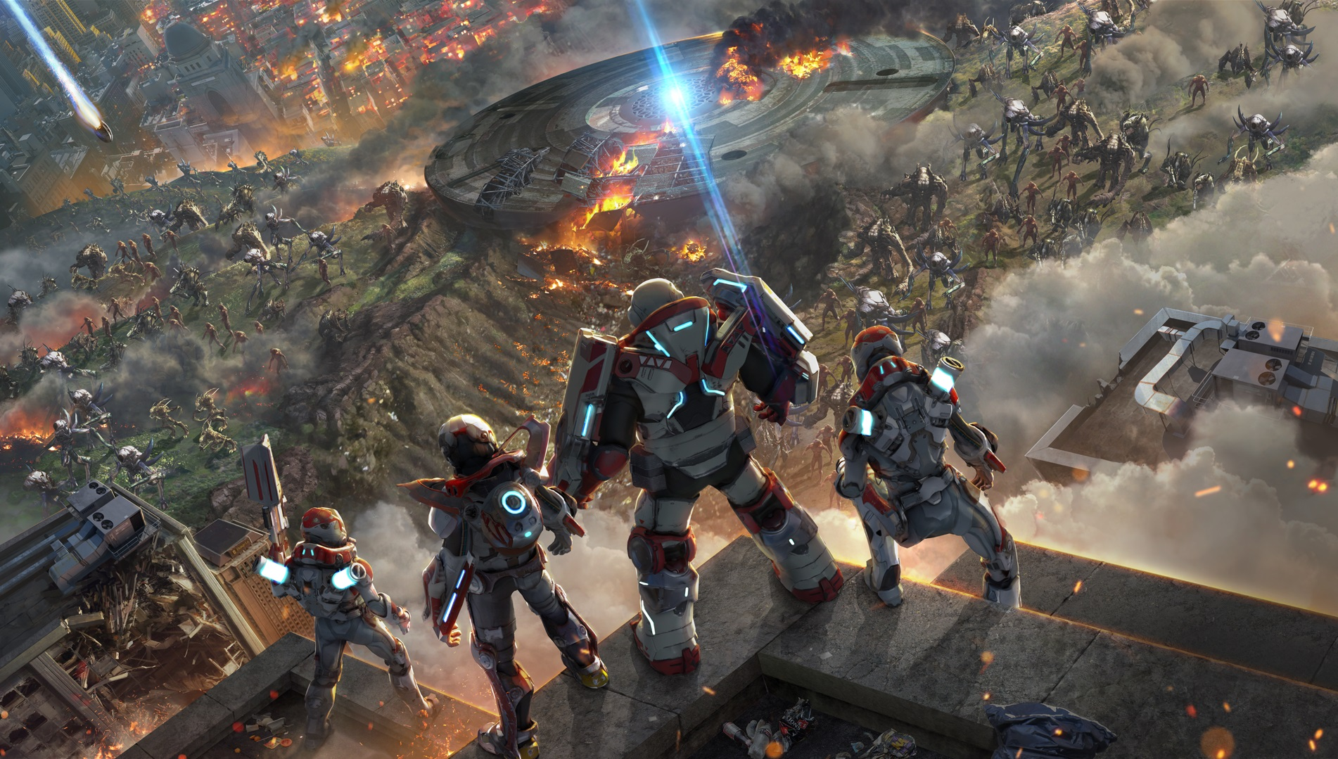 Multiplayer Games For Ps4 : Chaotic multiplayer shooter alienation launching for ps