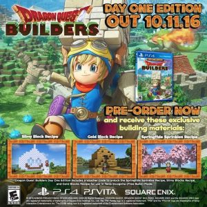 Day One Edition, Official Box Art for Dragon Quest Builders Revealed