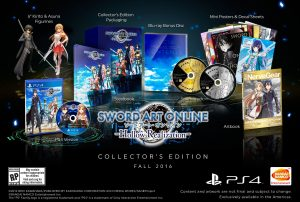 Collector's Edition for Sword Art Online: Hollow Realization Announced for North America