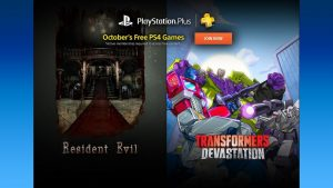 October 2016 PS Plus Lineup Includes Resident Evil Remake HD, Transformers Devastation and More
