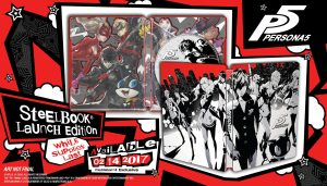 SteelBook Design for Persona 5 Launch Edition Revealed