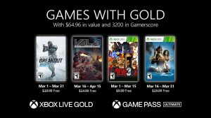 Games With Gold for March 2021 Announced